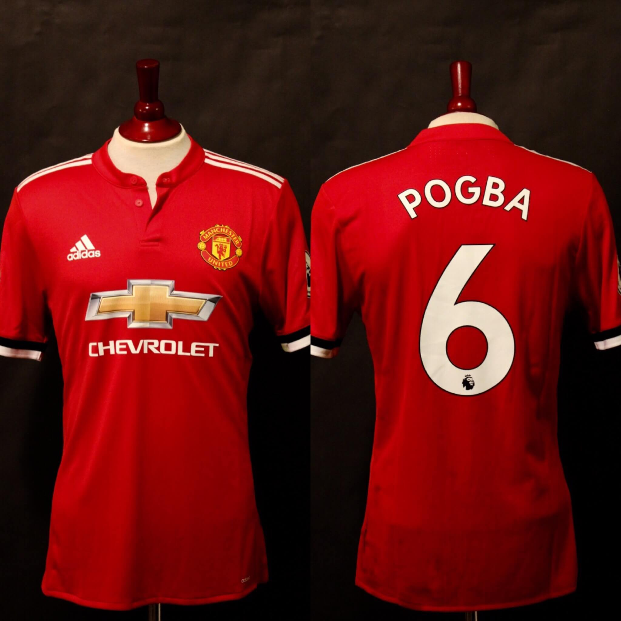 innovative design 3df3f 44f12 A Paul Pogba Game-Used & Unwashed #6 Manchester United Home Shirt. 2017/18  English Premier League.
