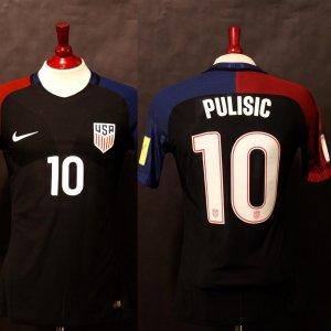 A Christian Pulisic Game-Used #10 USA International Shirt.  9/6/2016 FIFA World Cup Qualifier v. Trinidad & Tobago (4-0).