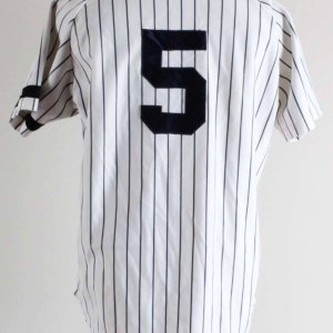 C. 80's Joe DiMaggio Old Timers Game-Worn New York Yankees Jersey- Grade 11/20
