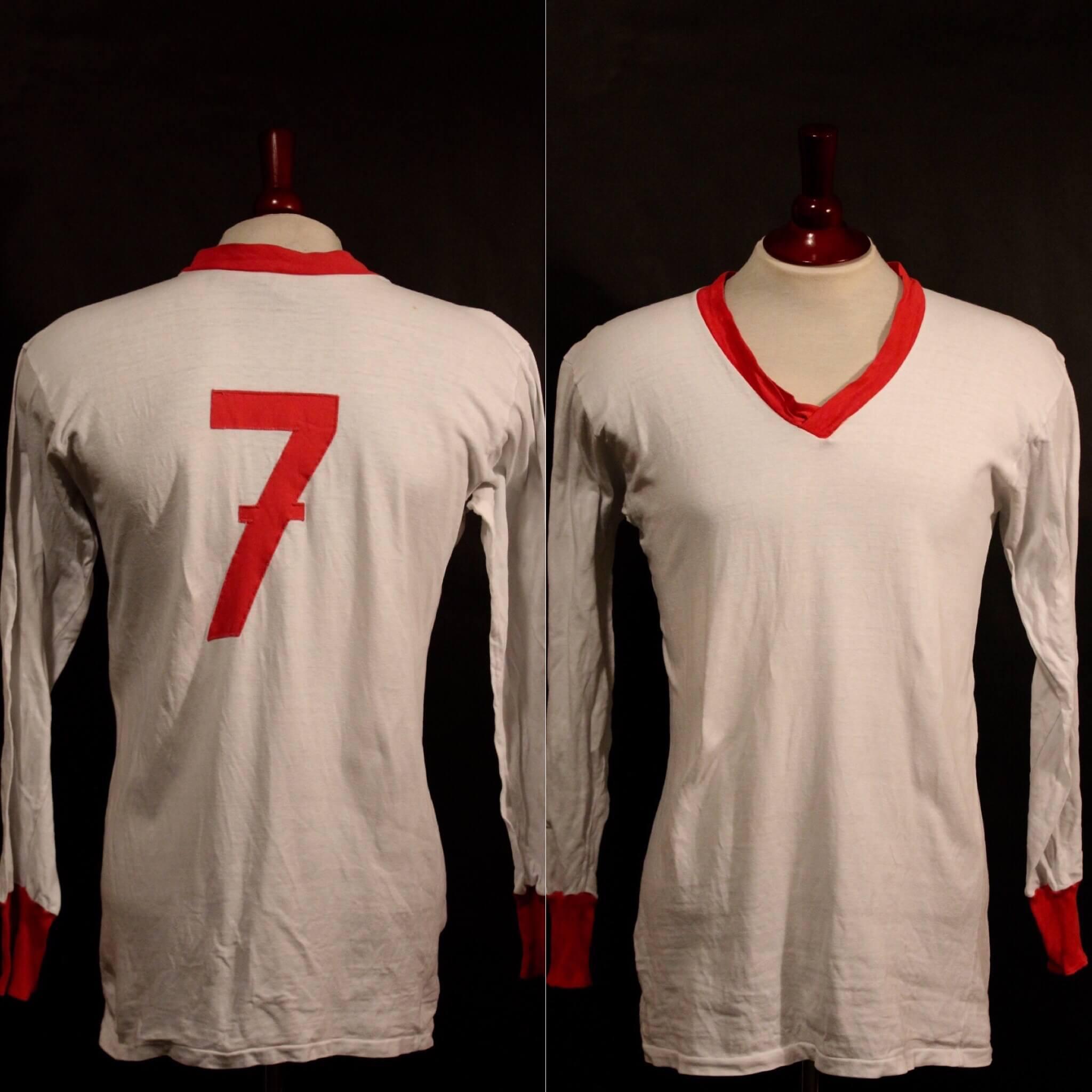 A Rudolf Nafziger Game-Used #7 Bayern Munich Shirt.  1960's.