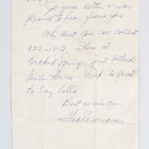 Ted Williams Boston Red Sox Signed Personal Handwritten Letter - COA