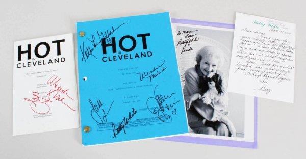 Betty White Signed Script, Personal Note, & Photo - COA JSA