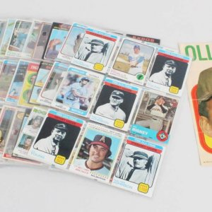 MLB Vintage Baseball Card Lot (179) w/(1) Signed - George Brett, Nolan Ryan, Cy Young, Walter Johnson, etc.