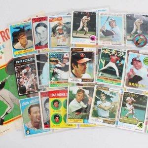 Baltimore Orioles Vintage Baseball Card Lot (42) - Brooks Robinson, Jim Palmer, etc.