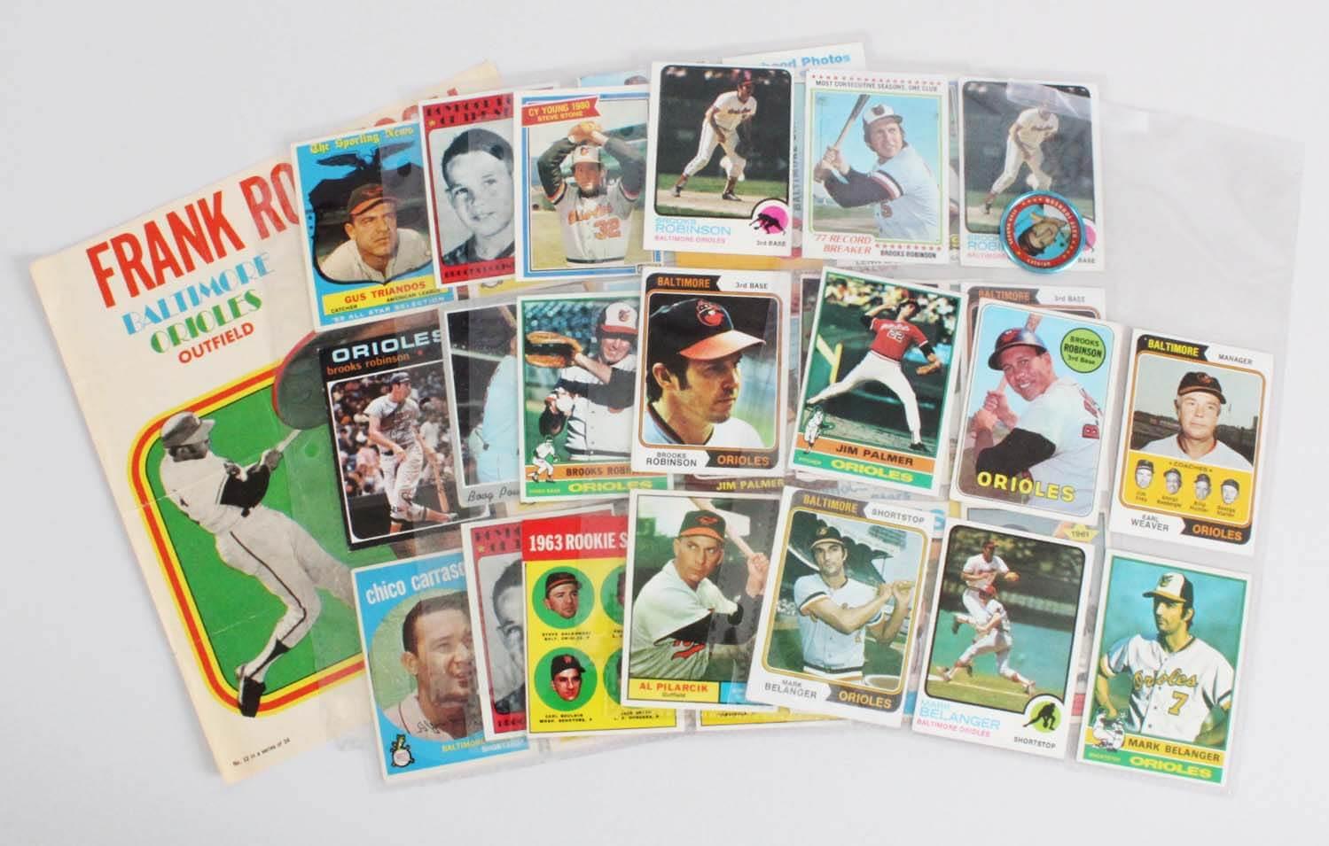 Baltimore Orioles Vintage Baseball Card Lot 42 Brooks Robinson Jim Palmer Etc
