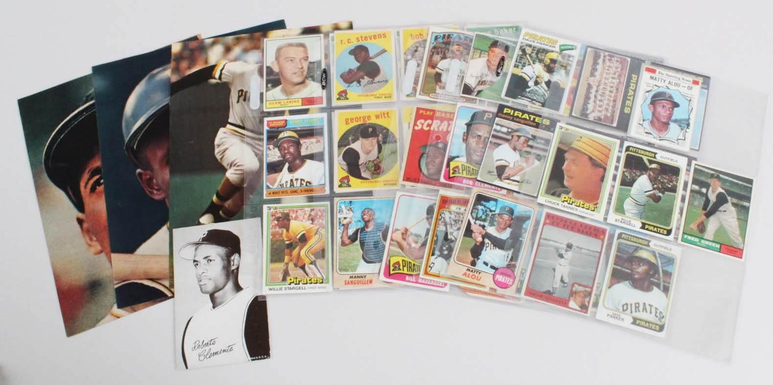 Pittsburgh Pirates Vintage Baseball Card Lot (49) - Roberto Clemente, Willie Stargell, etc.