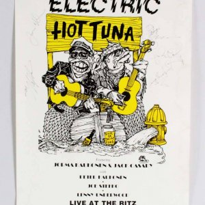 Electric Hot Tuna Band Signed Poster JSA