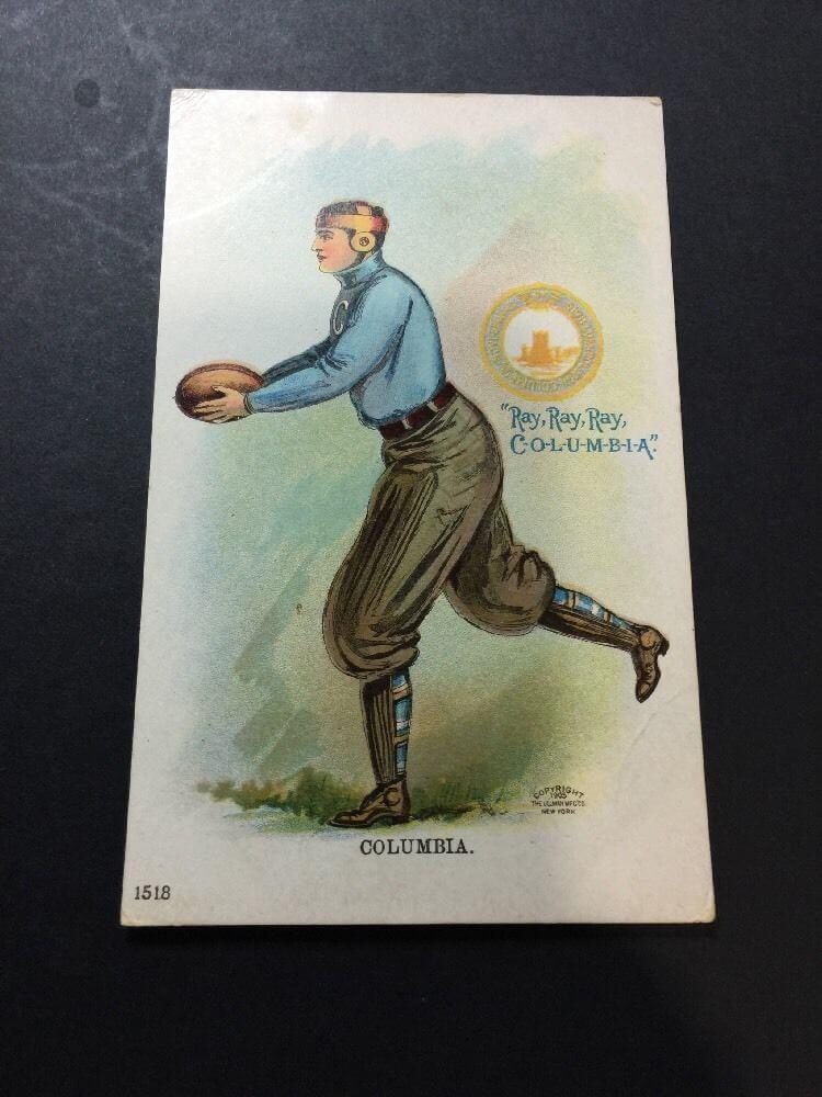 COLUMBIA UNIVERSITY 1905 Postcard Football Player