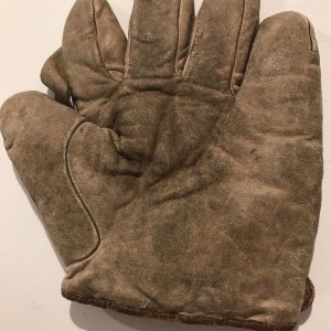 Spalding 1908 Web Baseball Glove One Inch Sewn Vintage