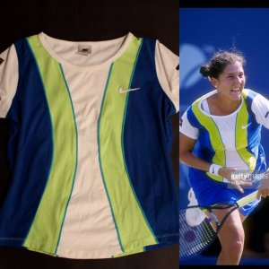 A Monica Seles Game-Used Custom Nike Tennis Shirt.  1997 US Open.
