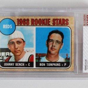 1968 Topps Johnny Bench Rookie Card RC #247 Cincinnati Reds Graded BGS BVS 5 EX