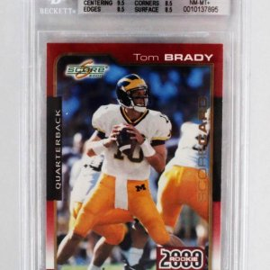 2000 Score Tom Brady Rookie Card RC #316 - Graded BGS 8.5 NM-MT+