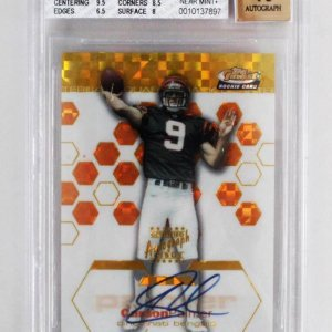 2003 Topps Finest Carson Palmer Signed Rookie Card RC Auto Gold XFractor 50/50 - Graded BGS 7.5