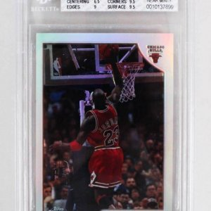1998-99 Topps Chrome Michael Jordan Preview Refractors Card - #77 Graded Beckett BGS 7.5 Near Mint+