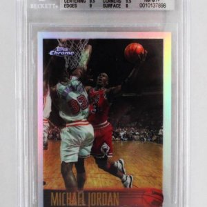 1996-97 Topps Chrome Michael Jordan Refractor Card - #139 Graded Beckett BGS 8.5 NM-MT+