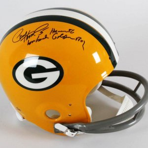 "Paul Hornung Signed Green Bay Packers Helmet - Full Size Inscribed,""Golden Boy, Heisman '56"" TriStar"