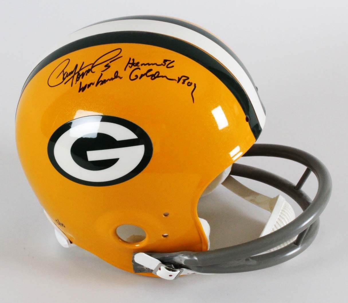 "Paul Hornung Signed Green Bay Packers Helmet - Full Size Inscribed,""Golden Boy, Heisman '56"" TriStar"