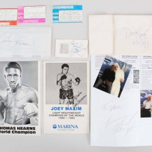 Boxing Multi-Signed Lot - Mike Tyson, Don King, etc. - JSA