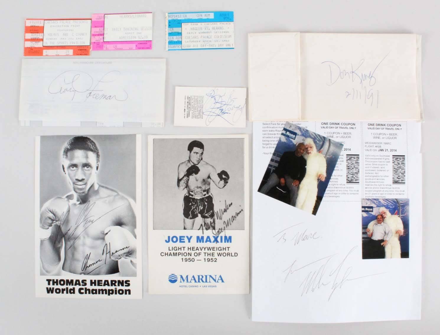Boxing Multi-Signed Lot - Mike Tyson, Don King, etc. - JSA