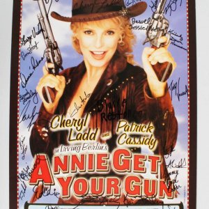 """Annie Get Your Gun"" Multi-Signed Broadway 14x22 Poster - Cheryl Ladd, Patrick Cassidy etc. - JSA"