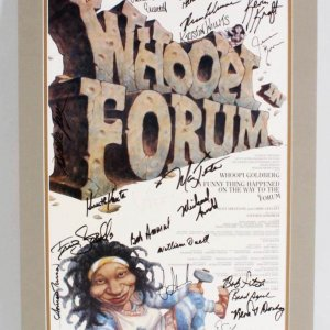 "Whoopi Goldberg A Funny Thing Happened on Way to Forum Multi-Signed Matted Display 17.25 x 25.25""  - JSA"