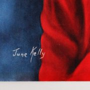 Elvis Presley Signed 16x20 Artwork by June Kelly - 1964 Roustabout Film - JSA Full LOA