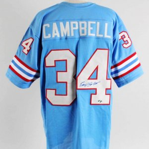 Earl Campbell Signed Houston Oilers Jersey - COA