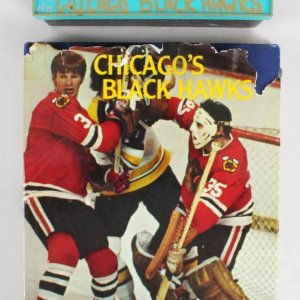 CHICAGO'S BLACK HAWKS BY FISCHLER;  Signed by 18 Book w/ Original Negatives