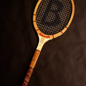 A Billie Jean King Game-Used Bancroft Wooden Tennis Racquet.  Circa 1976-1979.