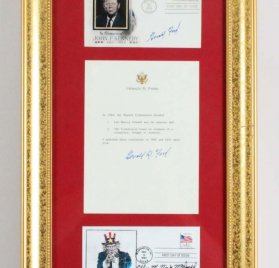 President Gerald Ford Signed TLS W/ Reference to Lee Harvey Oswald Display - JSA Full LOA