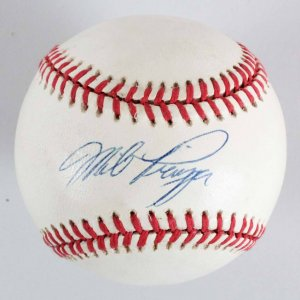 Mike Piazza Los Angeles Dodgers Signed ONL (White) Baseball - COA JSA