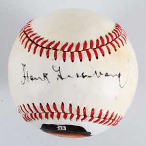Hank Greenberg Detroit Tigers Signed Baseball - JSA Full LOA & PSA/DNA