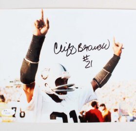 Cliff Branch Signed 8x10 Oakland Raiders Photo - COA JSA