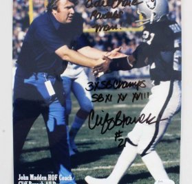 Cliff Branch Signed & Inscribed  8x10 Oakland Raiders Photo - COA JSA