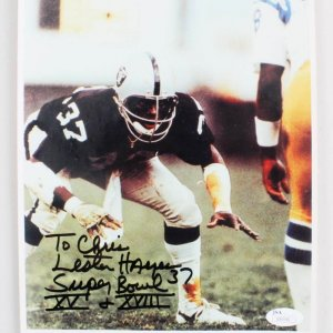 Lester Hayes Signed  & Inscribed 8x10 Oakland Raiders Photo - COA JSA
