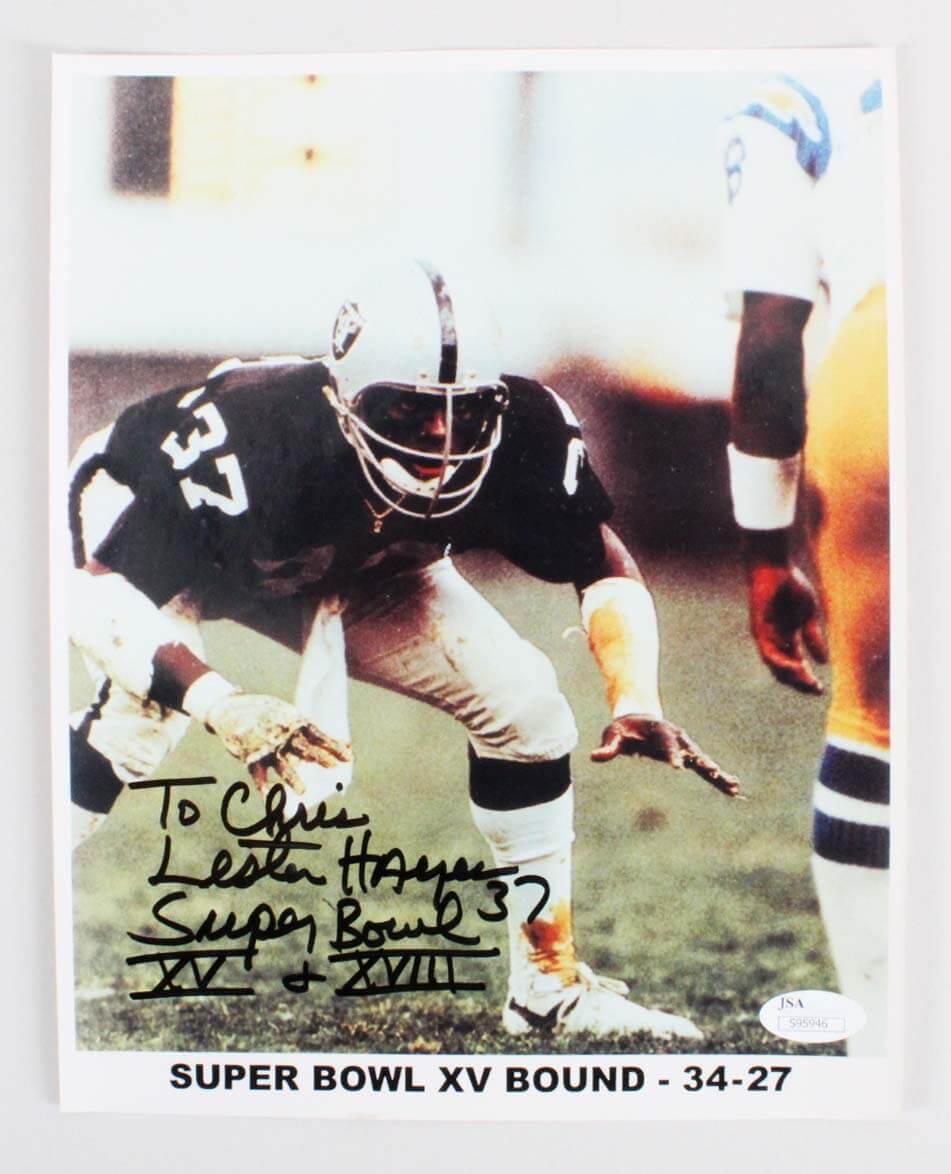 Lester Hayes Signed Photo Raiders - COA JSA