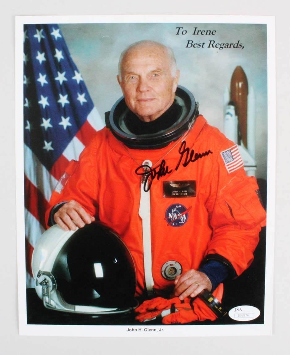 John Glenn Signed 8x10 Astronaut Photo - COA JSA