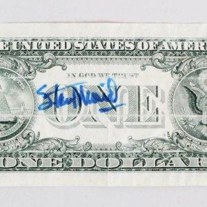 Stan Musial St. Louis Cardinals Signed Dollar Bill - COA JSA