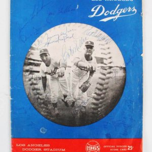 1965 Los Angeles Dodgers Multi-Signed Program - Sandy Koufax, Don Drysdale, etc. - JSA Full LOA