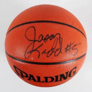 Jason Kidd New Jersey Nets Signed Official NBA Basketball - COA JSA