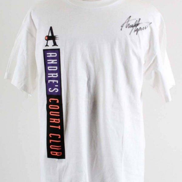Andre Agassi  Court Club Signed T-Shirt - COA JSA
