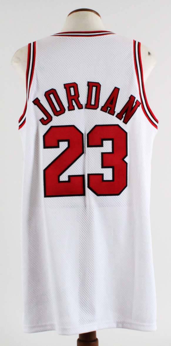 aa14dc4795a 1997-98 Michael Jordan Game Used Chicago Bulls Home Jersey-Final Season COA  100% Authentic Grade 10 20