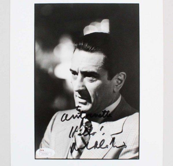 Robert De Niro Casino Signed & Inscribed B&W 8x10 Photo - JSA Full LOA
