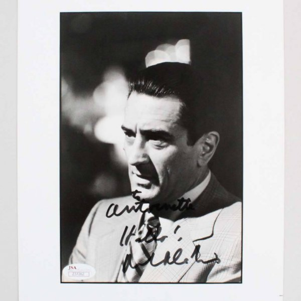 Robert De Niro Casino Signed & Inscribed B&W 8x10 Photo - JSA Full LOA