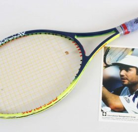 Andre Agassi Game-Used, Signed Tennis Racket & 8x10 Photo - JSA Full LOA & 100% Team