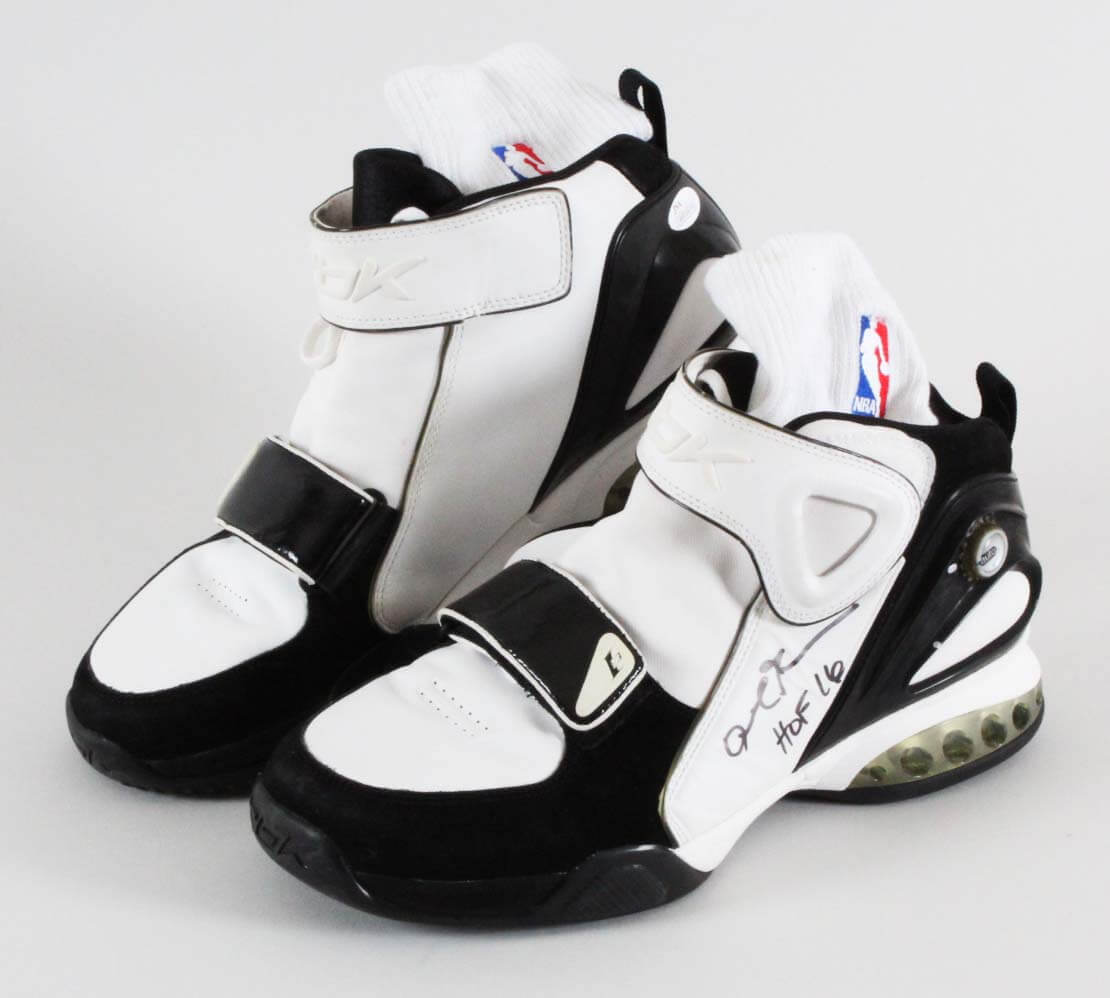 brand quality cheap for sale genuine shoes 2005 Allen Iverson Game-Worn, Signed Shoes W/ Socks ...