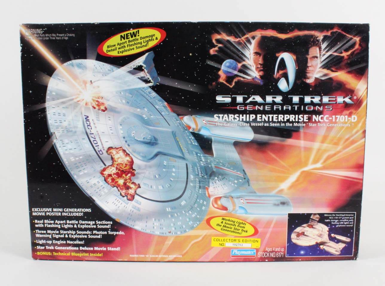 1994 Playmates Star Trek Generations Starship Enterprise NCC-1701-D (Factory Sealed)