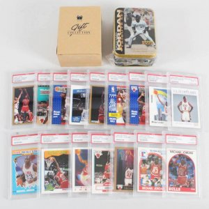 Michael Jordan Chicagos Bulls PSA Graded MINT 9 Basketball Card Lot (16)