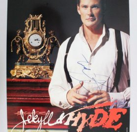 "David Hasselhoff Signed ""Jekell & Hyde"" The Musical 14x22"" Poster - COA JSA"