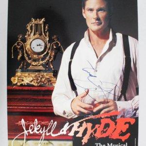 David Hasselhoff Signed Poster Musical - COA JSA